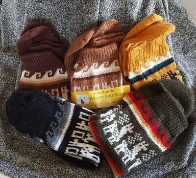 Alpaca Socks - hand knitted in Peru. Super soft and hard wearing.