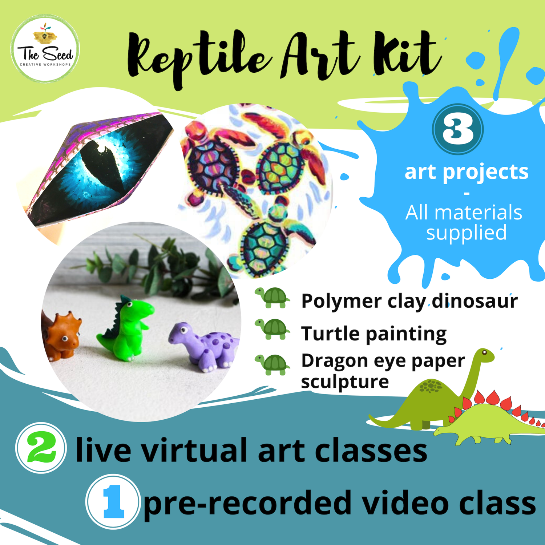 Reptile Art Relief Kit - live classes + all materials