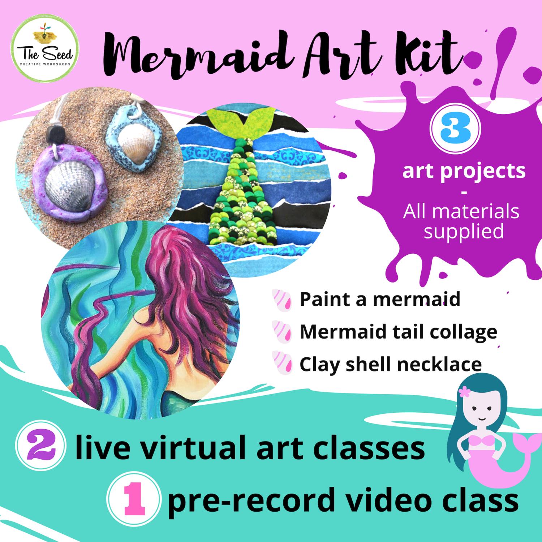 Mermaid Art Relief Kit - live classes + all materials