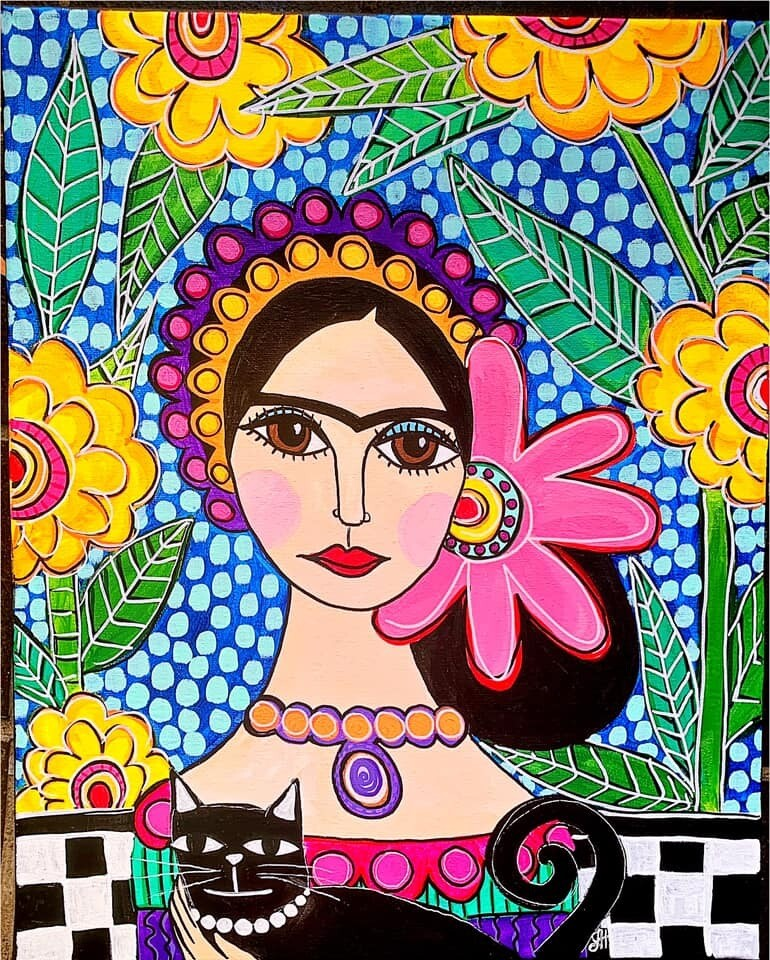 Live paint pARTy! - Patterned Frida - Friday 22 May - 7.30pm