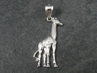 90s Vintage Sterling Giraffe Pendant