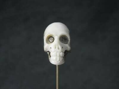 Vintage Skull Stick Pin Memento Mori