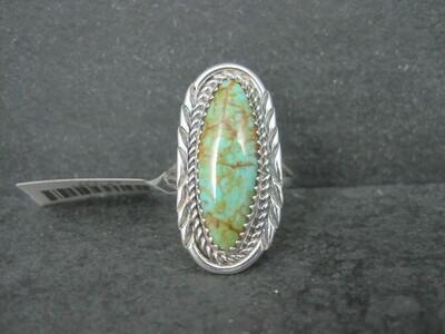 Native American Green Kingman Turquoise Ring Size 7