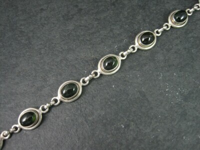 Sterling Green Tourmaline Bracelet 7.5 Inches