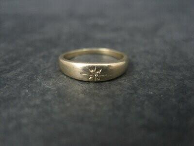 Antique 14K Diamond Baby Ring Size 0