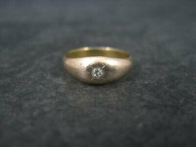 Antique 14K Diamond Baby Ring Size 2