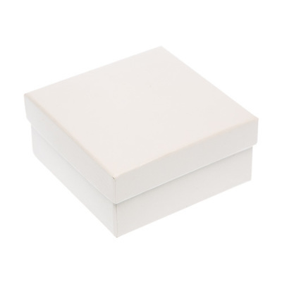 Box Square White 87x87mm