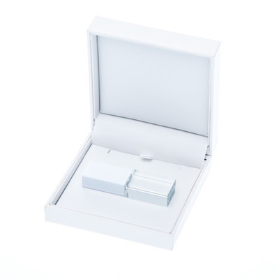 Box Square White Hinged Lid