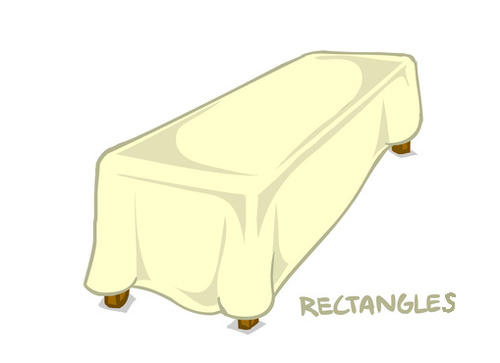 Poly Stripe Rectangle Tablecloths 00026