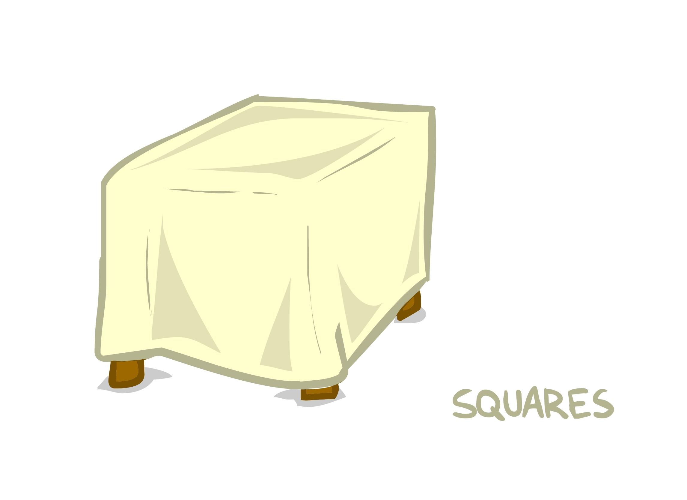 Lamour Matte Satin Square Tablecloths 00075