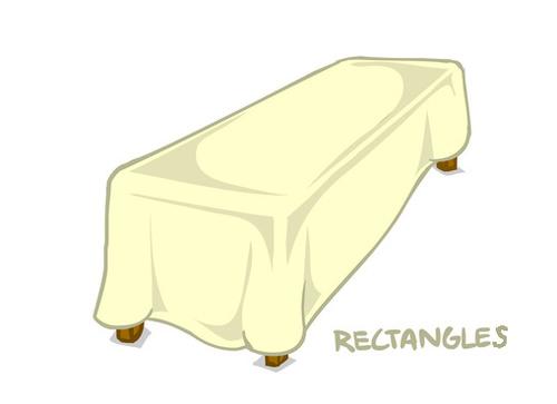 Sparkle Organza Rectangle Tablecloths 01333