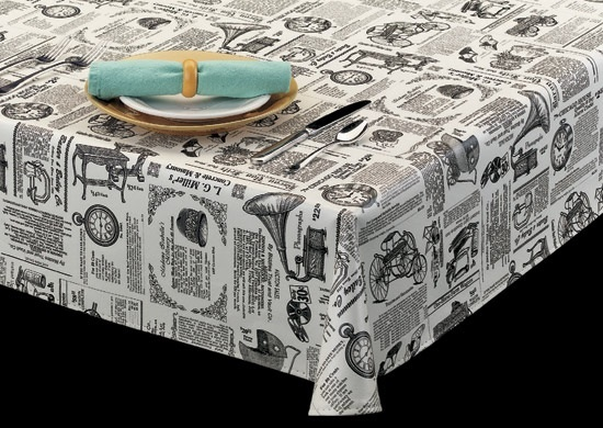 9825 Vinyl Oval Tablecloths