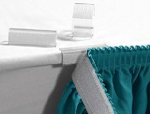 """3/4"""" Table Skirt Velcro Clip 00025"""