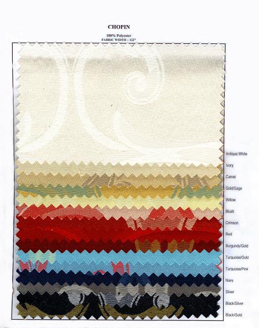 Chopin  Swatch card 01208