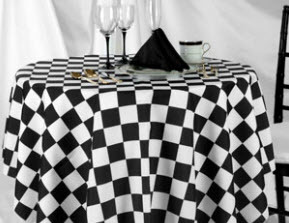 Racing Check Round Tablecloths