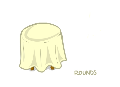 Black & White Damask Round Tablecloths 01904