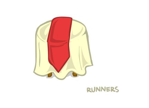 Black & White Damask Runners 01907