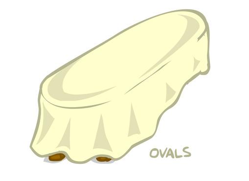 Poly Stripe Oval Tablecloths 01996