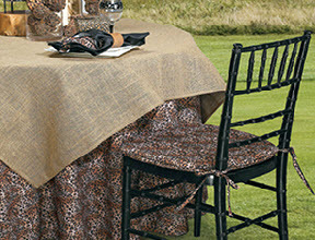 Real Burlap Oval Tablecloths