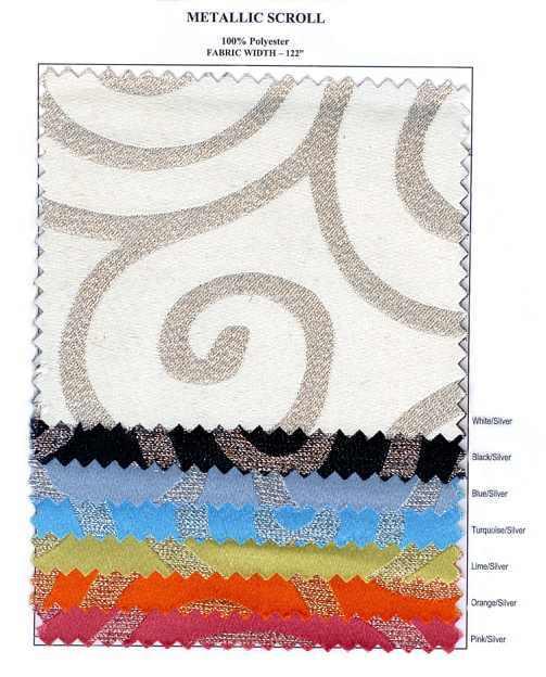 Metallic Scroll Swatch card 02062