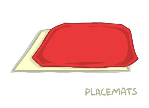 Metallic Scroll Placemats 02069