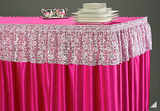 Lace Valance over shirred