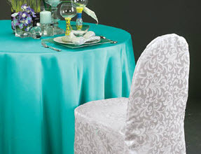 Lamour Matte Satin Oval Tablecloths