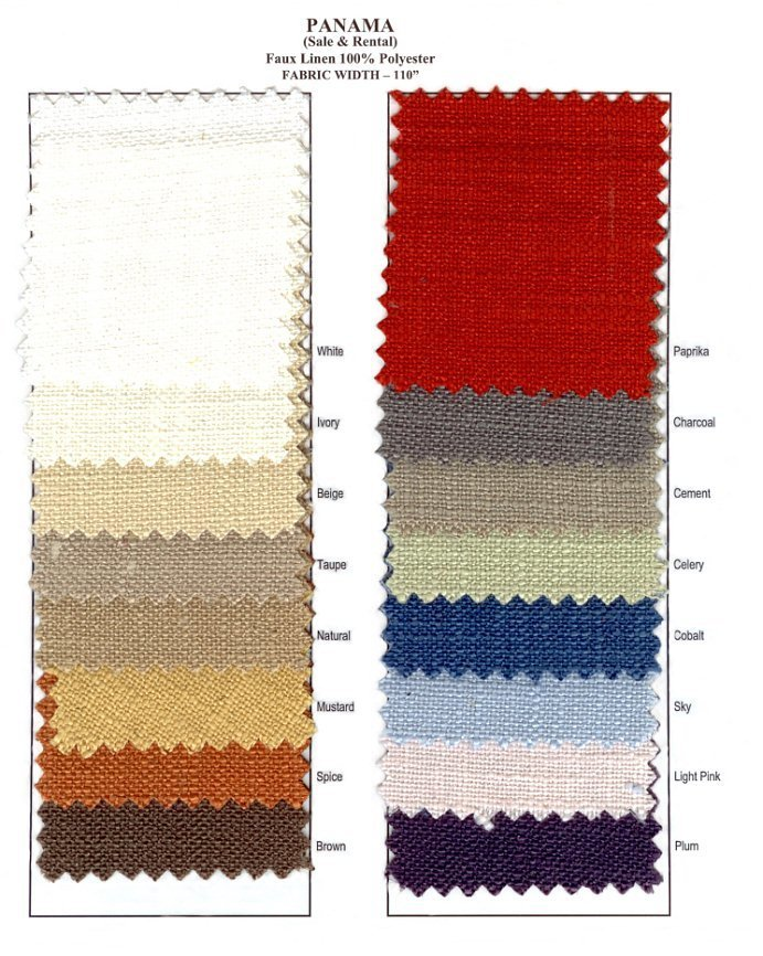 Panama  Faux Linen Swatch card 01808