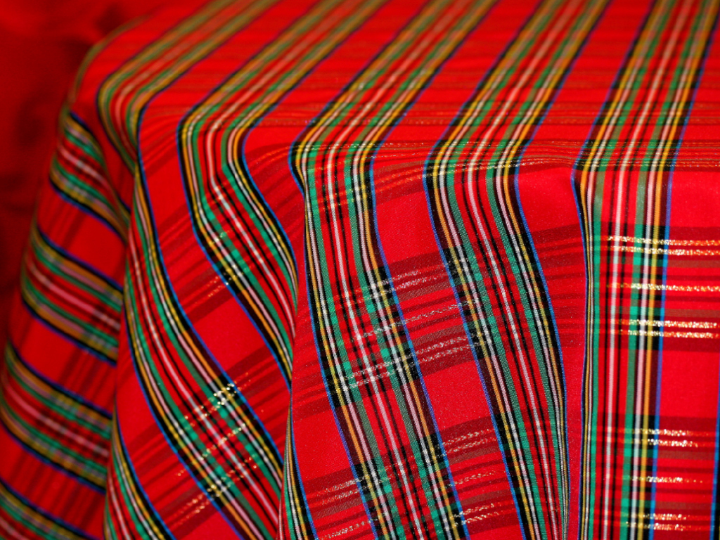 Plaid Print Fabric Swatch 01937