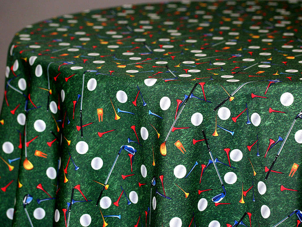 Golf Print Fabric Swatch 01964