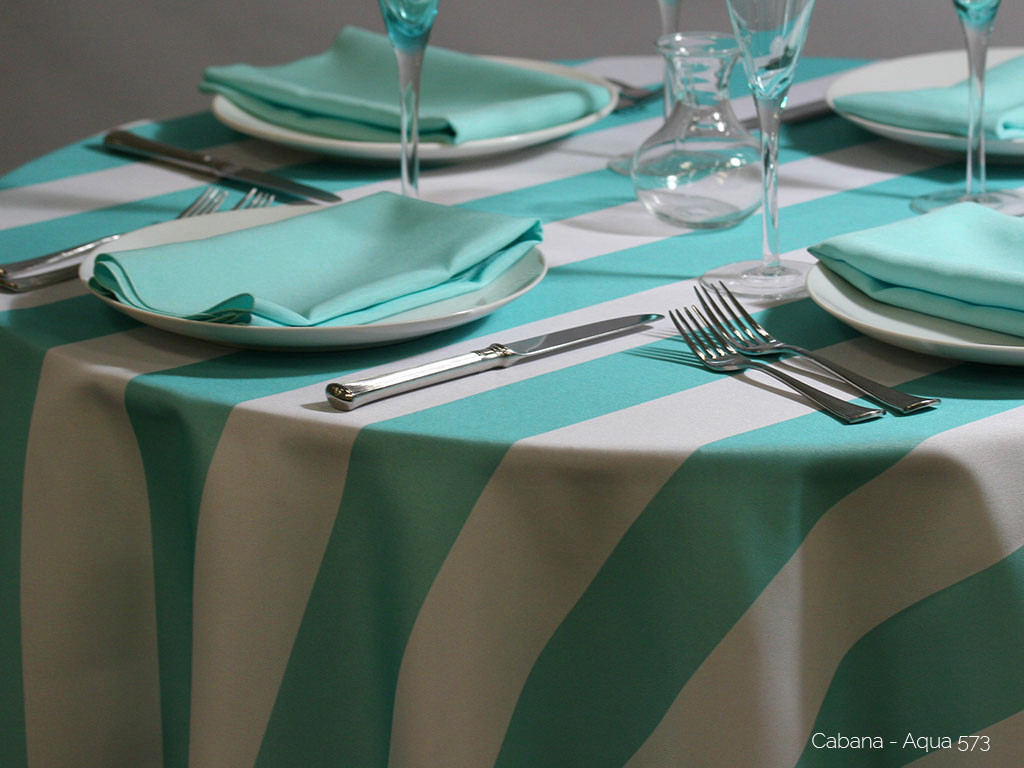 Cabana Print Oval Tablecloths