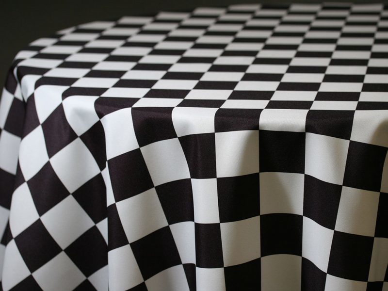 Racing Check Table Skirting by the foot