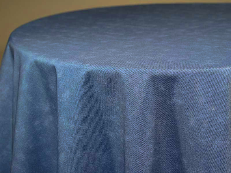 Denim Print Table Skirting by the foot