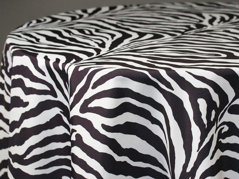 Zebra Round Tablecloths