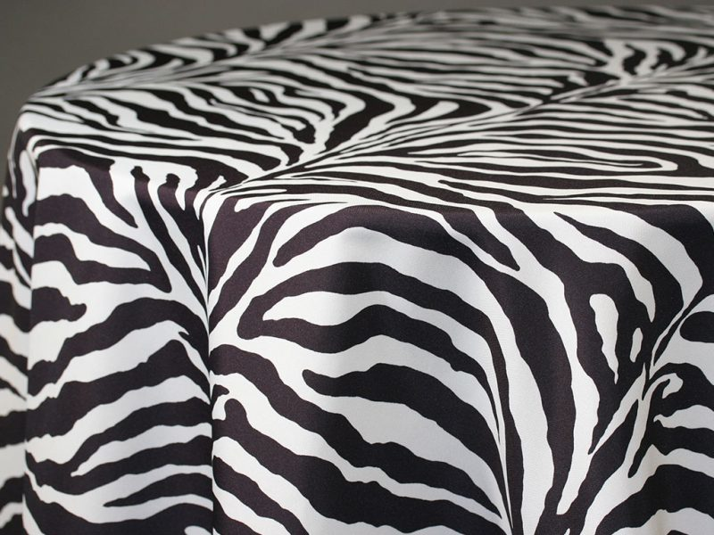 Zebra Table Skirting by the foot