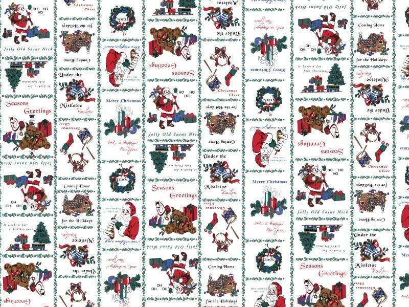 Santa Print Oval Tablecloths