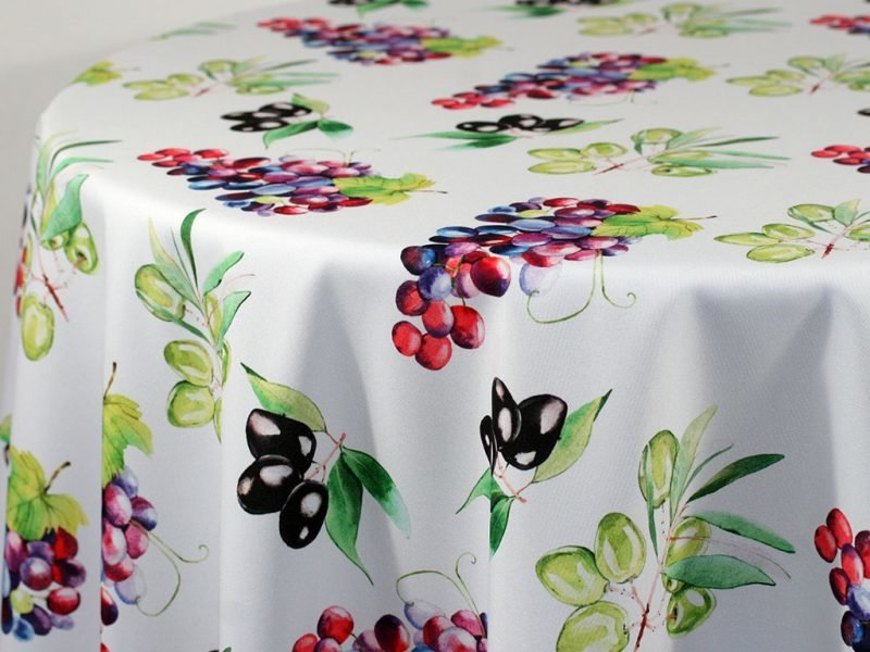 Grapevine Custom Print Table Skirting by the foot