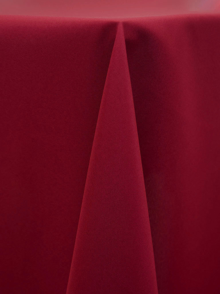 "Linens For Less 102"" Round in Raspberry Basic Polyester 03156"