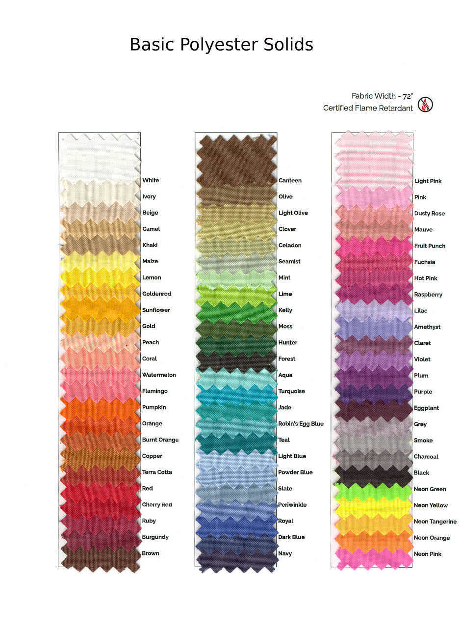 Basic Polyester Swatch Card 00061