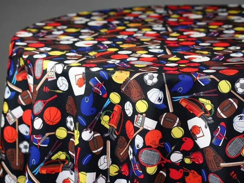 Sports Print Fabric Swatch 01955