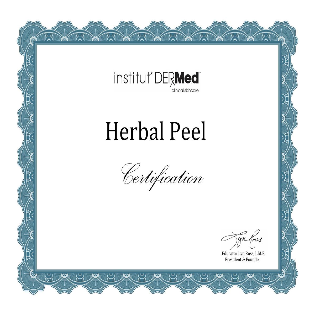 Online - Herbal Peel Training