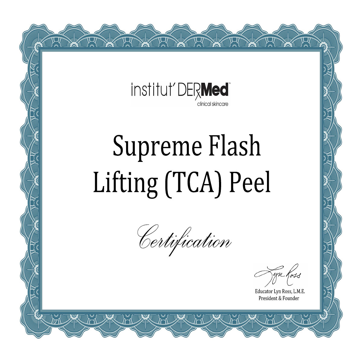 Online Supreme Flash Lifting Peel Training