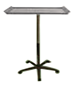 Stainless Tray with Stand and Wheels in Silver