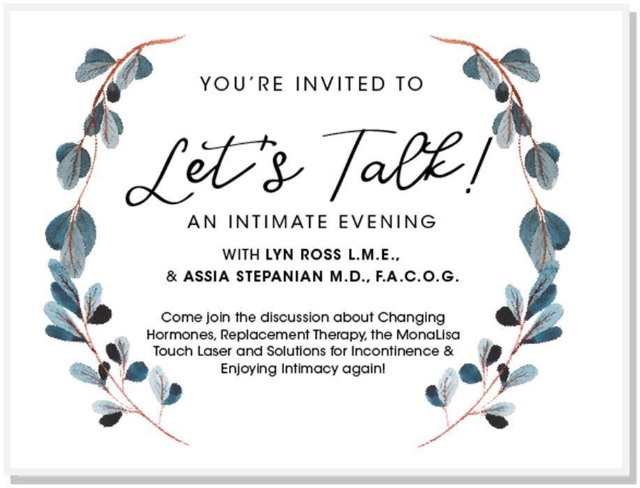 Institut Dermed Spa Lets Talk Event