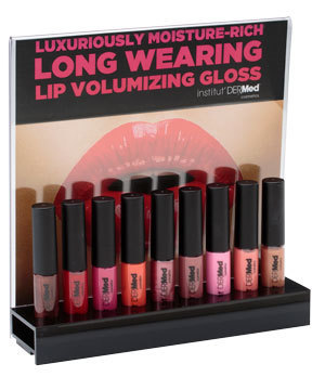 ​Institut' Dermed Cosmetics Lip Gloss Display