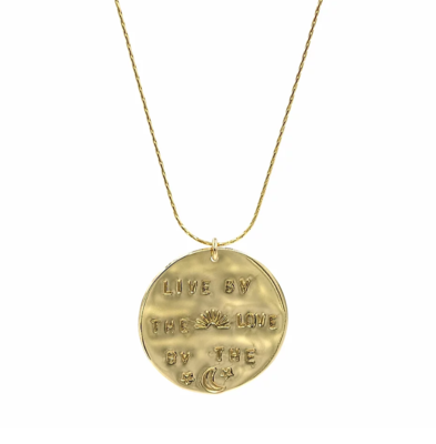 Gold-Filled Live By the Sun Necklace