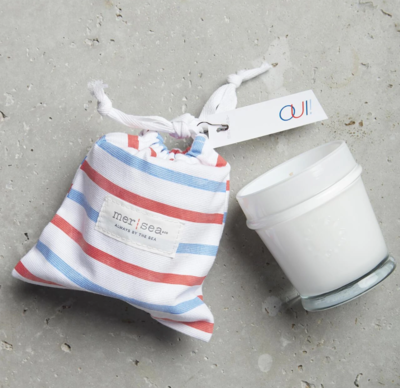 Oui  Striped Bagged Candle