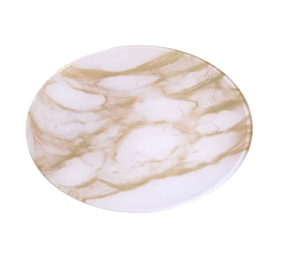 Gold/White Marble Plate