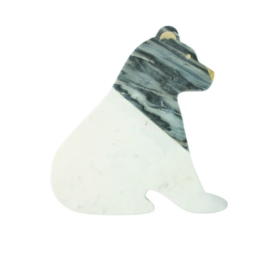 White/Gray Marble Bear Board