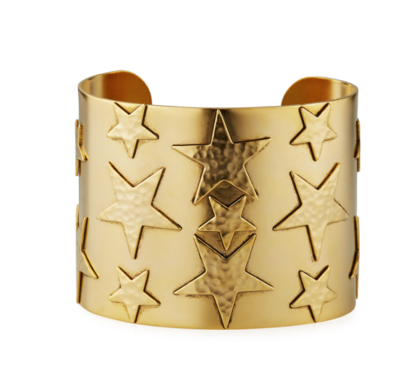 Gold-Plated Large Star Cuff